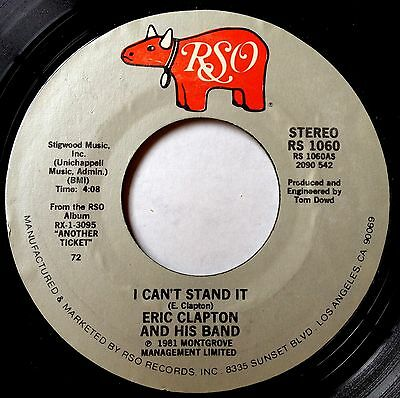 Eric Clapton & His Band 45 I Can't Stand It / Black Rose  VG++
