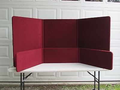 Frameless 3 Panel Folding Trade Show Backdrop Booth Banner Exhibit Display Table