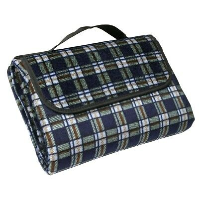 10T Picnic 195 - Picnic blanket, beach blanket, flannel, plaid with handy carry