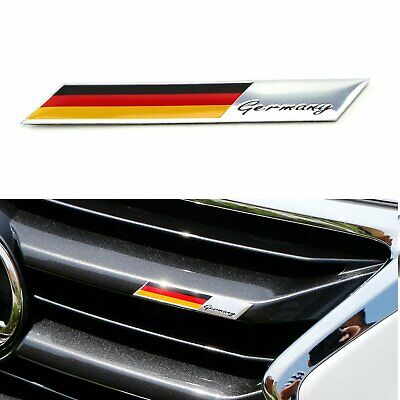 Aluminum Plate Germany Flag Emblem Badge For Car Front Grille Side Fender Trunk