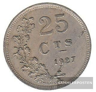 Luxembourg km-number. : 37 1927 very fine Copper-Nickel very fine 1927 25 Centim