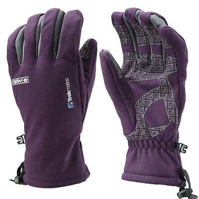 Trekmates Robinson Glove Women L - high-quality soft shell finger gloves with DR