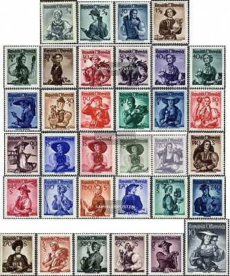Austria 893-926 (complete issue) unmounted mint / never hinged 1948 Costume Seri