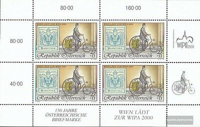 Austria 2222I Sheetlet (complete issue) used 1997 WIPA 2000