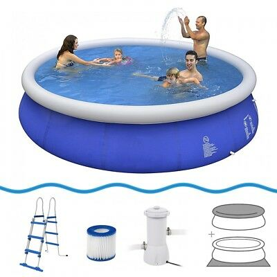 Jilong Prompt Set Pool Marin Blue 450 Set - quick-up pool set, 450x90cm with car