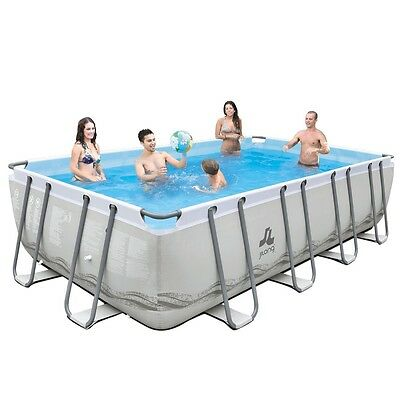 Jilong Mistral Grey 549 Set - steel frame paddling pool, rectangular pool, 549x3