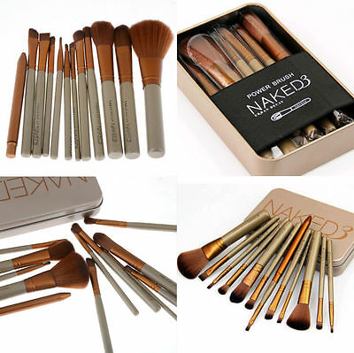12pcs Spazzola Pennelli Make-Up Ombretto Professionali Cosmetic Brush Trucco