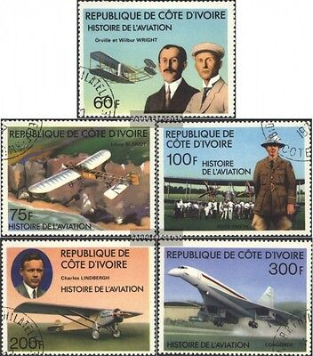 The Ivory Coast 511-515 (complete issue) used 1977 History the