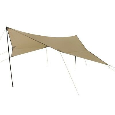 10T Tarp III - Rectangular sun awning 500x500 cm with poles, beige, WS=2000 mm