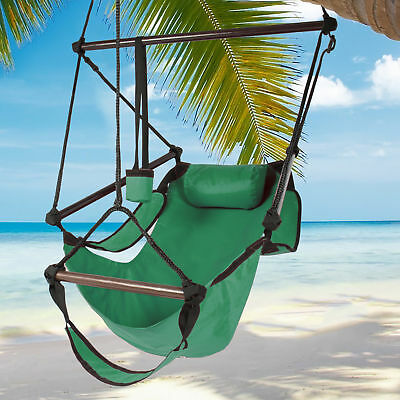 Hammock Hanging Chair Air Deluxe Sky Outdoor Chair Solid Wood 250lb