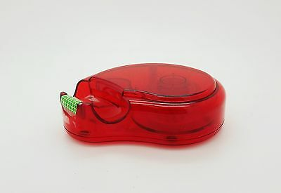 """CLEAR RED FLAT TAPE DISPENSER - holds up to ¾"""" wide tape - U PICK THE QUANTITY"""