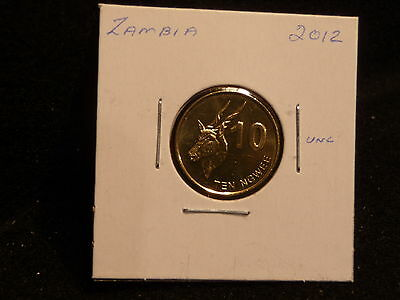 Zambia:   2012      10  Ngwee    Coin     (Unc.)    (#3739)  Km#