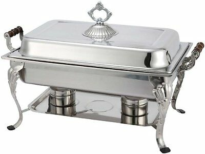 Winco Crown 8qt Full-size Chafer, S/S 408-1 New