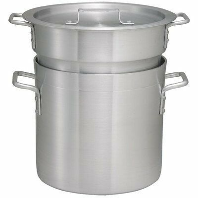 WinCo Aldb-12 12-quart Double Aluminum Boiler With Cover
