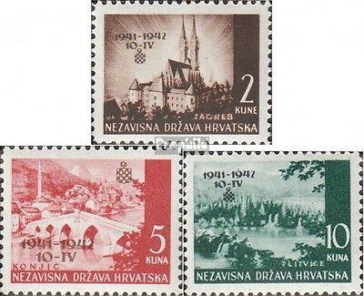 Croatia 78-80 (complete issue) unmounted mint / never hinged 1942 clear brands