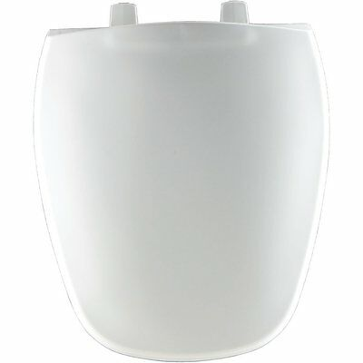 BEMIS Round Closed Front Toilet Seat with Cover in White Finish 124-0200 000 New