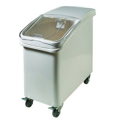 Winco IB-21 21-Gallon Plastic Ingredient Bin, with Casters and Scoop Handle New