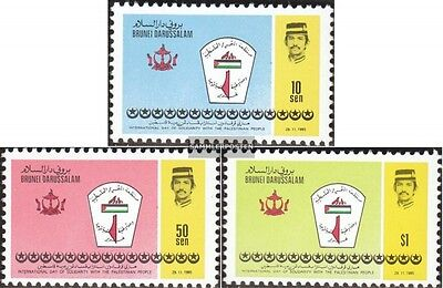 Brunei 317-319 mint never hinged mnh 1985 Solidarity with palestine
