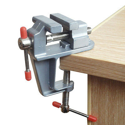 """Durable 3.5"""" Aluminum Mini Jewelers Hobby Clamp On Table Bench Vise Vice Tool"""