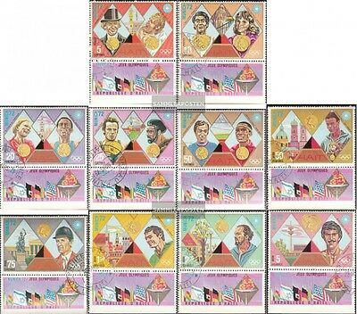 Haiti 1205-1214 with zierfeld fine used / cancelled 1972 Gold Medalists Munich