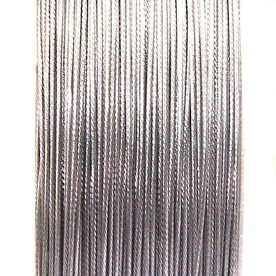 100 Metres Silver Tigertail Beading Wire ** 0.38mm ** Jewellery Stringing Wire