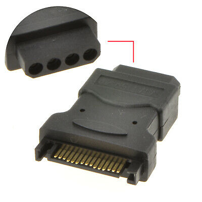 SATA Power Connector to 4 pin Molex Converter Adapter