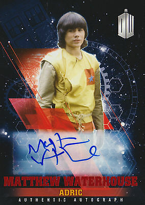 Topps 2016 Timeless Doctor Who Matthew Waterhouse Red Autograph Card (01/10)