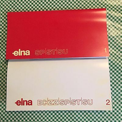Elna Super 62 Sewing Machine Instruction Manual 1 & 2  Also for Other Elnas