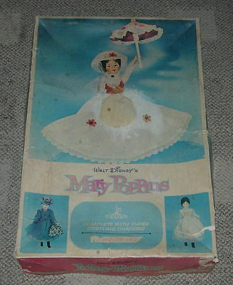 Walt Disney's  Mary Poppins  Horsman Doll  With Box  3 Changes  1965