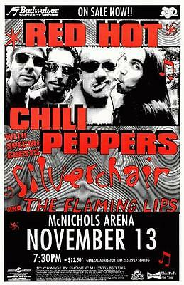 Red Hot Chili Peppers Flaming Lips Denver 1996 Poster