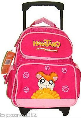 "HT2192 Hamtaro Small Rolling Backpack (PINK) 12"" x 9"""