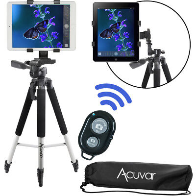 "Acuvar 57"" Tablet Tripod + Bluetooth Remote for Apple iPad, iPad Air, iPad Mini"