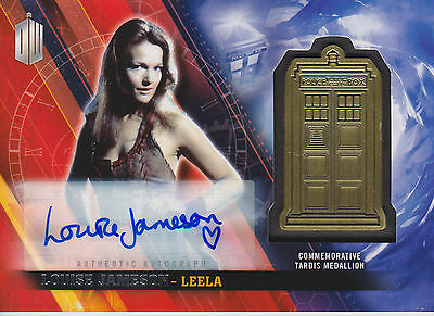 Topps 2016 Timeless Doctor Who Louise Jameson Autograph Medallion Card (07/10)
