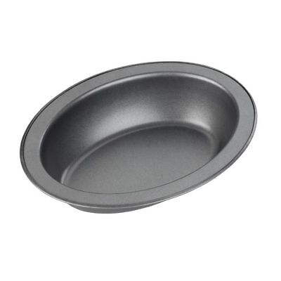 Non Stick Oval Metal Oven Pie Baking Dish Plate Tin Tray