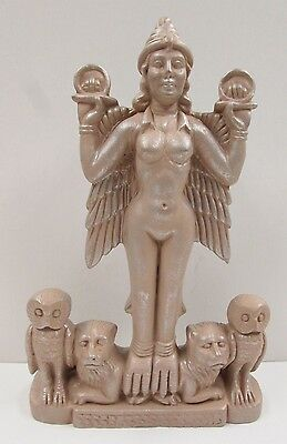 Lilith Lillith Ancient Sumerian Mother Bird Goddess Rose Brown Statue #LFS