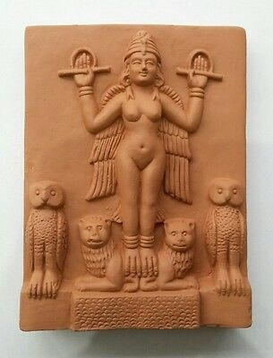 Lilith Lillith Ancient Sumerian Mother Goddess Terra Cotta Plaque Statue #LIL