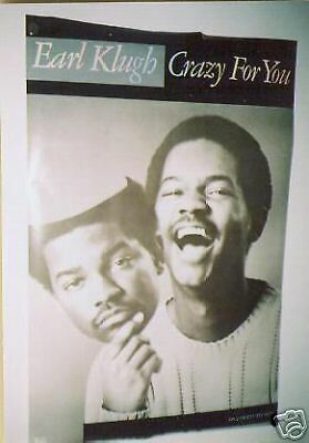 EARL KLUGH Large 1981 PROMO POSTER Crazy For You