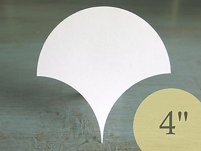 """100 Clamshells 4"""" HIVE PAPER PIECES English Paper Piecing EPP Quilt Templates"""