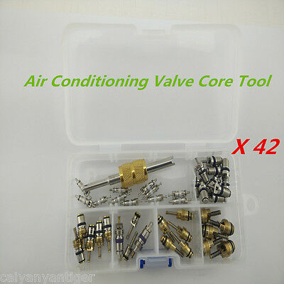 41pcs Car R12&R134a A/C Air Conditioning Schrader Valve Core Remover Tool Kit