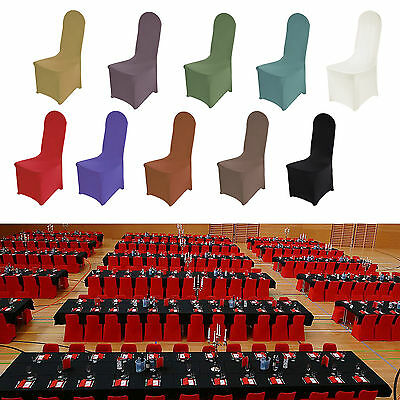 Chair Covers Lycra Spandex  Flat Front  Party Wedding Banquet Party Stretch Fit
