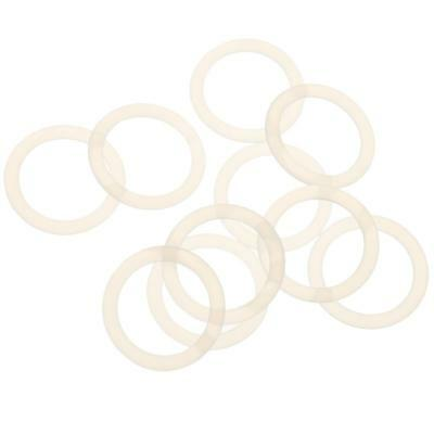 10x Clear Silicone Mam Ring Dummy Clips Adapter Pacifier Holder Clip O Ring