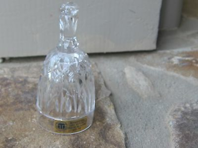 """Miniature Small Crystal Bell TritSchler Bleikristall Made West Germany 3.5""""T"""