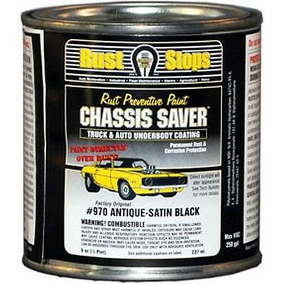 Magnet Paint Co Chassis Saver Antique Satin Black, 1/2 Pints Mpcucp970-16 New
