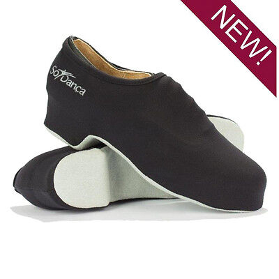 New Quality Tap Shoes Covers So Danca Black Nylon Youth & Adult Unisex