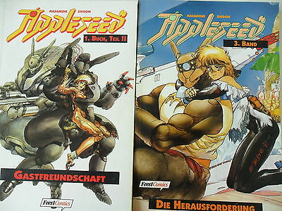 Comic - 2 Hefte - Appleseed Band 2  und Band 3 - Masamune Shirow - Feest