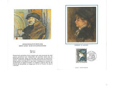 I0306 - FRANCE - 1 Souvenir Philatélique Renoir 1968