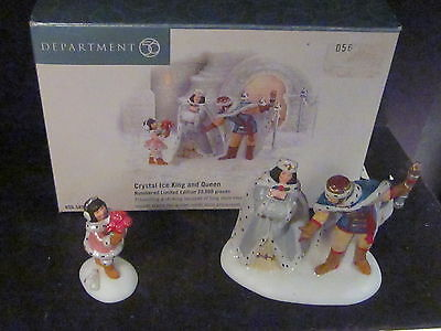 Dept 56 Ltd Ed CRYSTAL ICE KING AND QUEEN 2PC