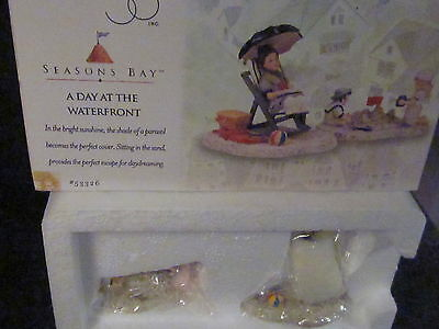 Dept 56 Season's Bay A DAY AT THE WATERFRONT #53326 2PC  Never Displayed