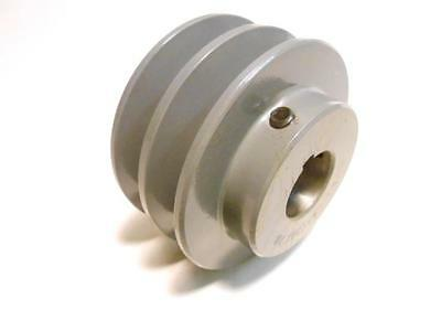"""100's of Pulleys! Double V Belt Pulley 2.65"""" 2.75"""" 2.85"""" dia 1/2"""" - 1 1/8"""" Bore"""