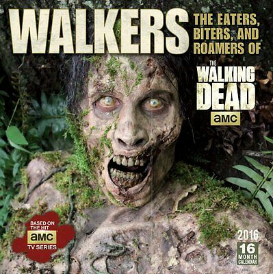 The Walking Dead TV Series Walkers 16 Month 2016 Wall Calendar, NEW SEALED